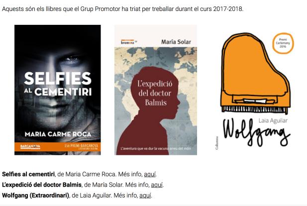 Cobertes dels llibres finalistes: Selfies al cementiri, L'expedició del doctor Balmis i Wolfgang (extraordinari)