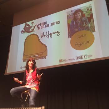 Laia Aguilar durant la presentació del premi