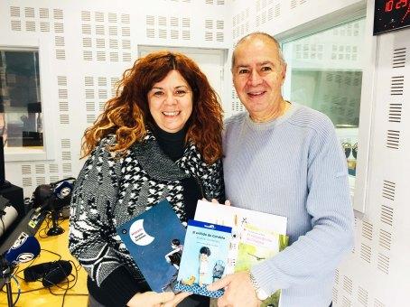 Ricardo Alcántara i Susana Peix als estudis de Canal Blau FM
