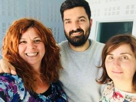 Amb Chema Peral i Beatriz Garcés
