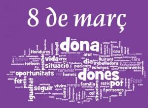 logotip 8 març dia de la dona